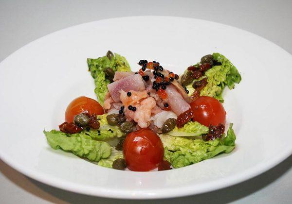Ensalada colección ahumados Restaurante El Cierzo