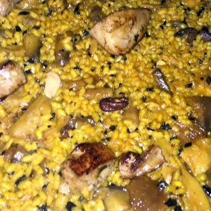 Arroz de foie fresco con setas Restaurante El Cierzo