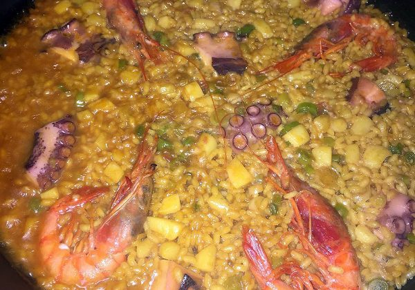 Arroz de pulpo, sepia y gamba rallada Restaurante El Cierzo