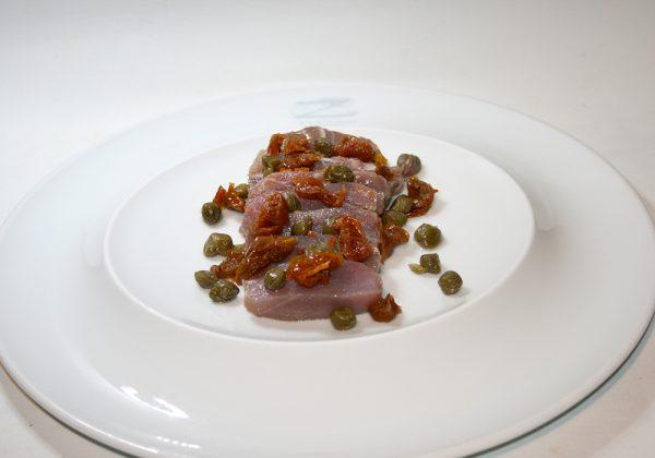 Atún marinado Restaurante El Cierzo