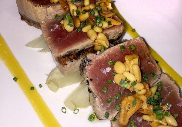 Atún del mediterráneo a la brasa en Restaurante El Cierzo