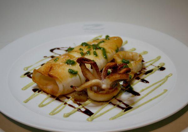 Calamar a la plancha Restaurante El Cierzo