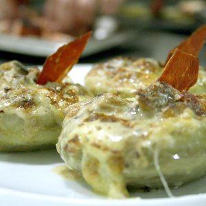 Alcachofa con trufa blanca Restaurante El Cierzo