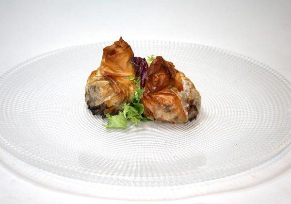 Saquito de ternasco de Aragón Restaurante El Cierzo