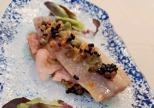 Tosta de sardina ahumada Restaurante El Cierzo